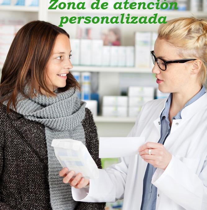 Zonas personalizadas en la farmacia